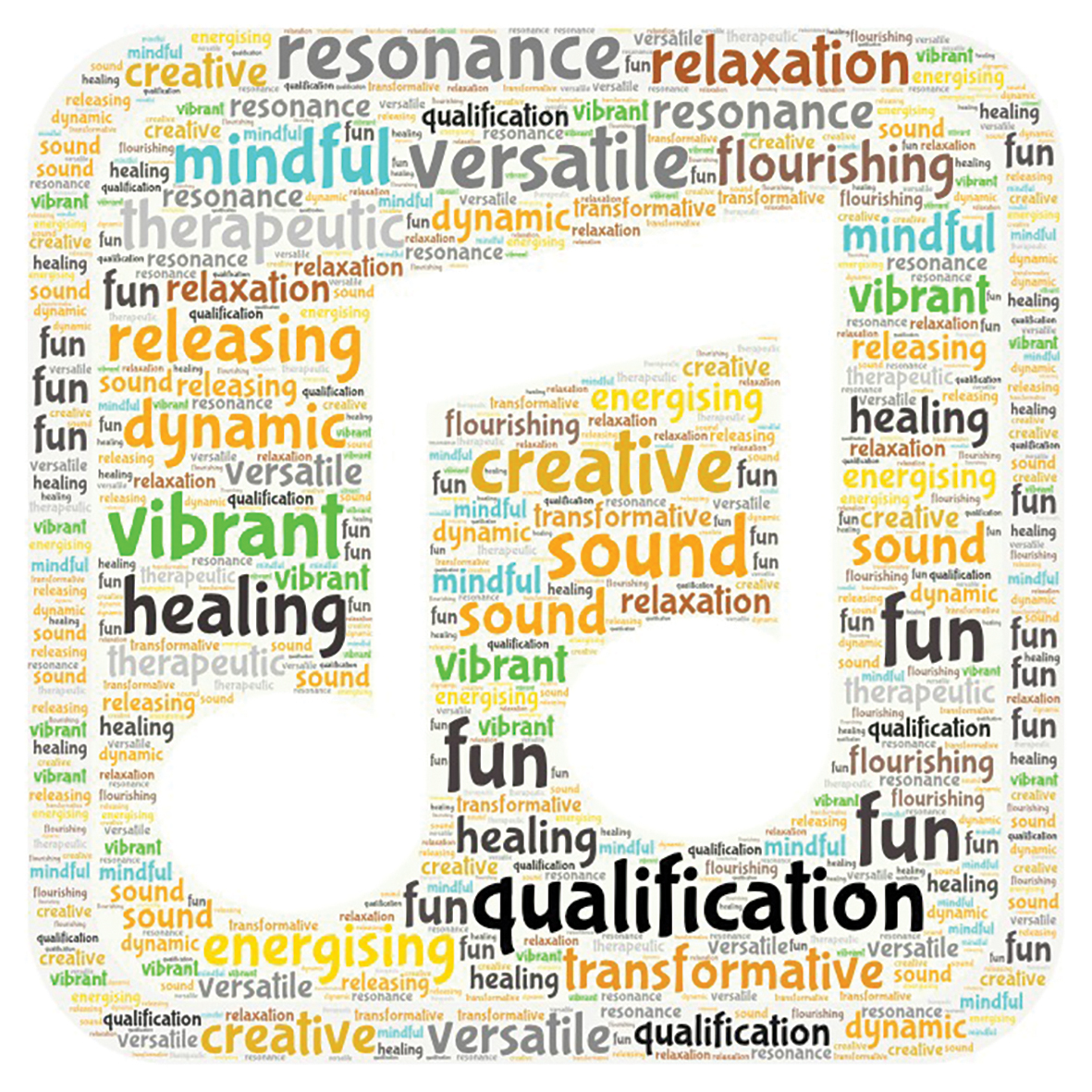 Word scape for music and sound therapy